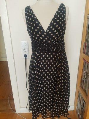 Oasis Sukienka typu babydoll biały-czarny