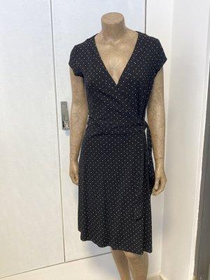 Kopertowa sukienka czarny-biały Bawełna