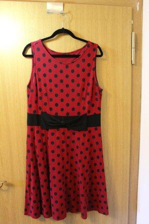 Bodyflirt Sukienka dresowa czarny-czerwony