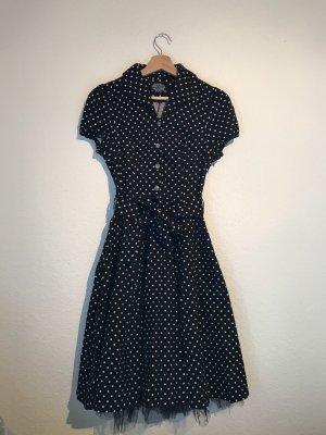Hearts & Roses Petticoat Dress black-white