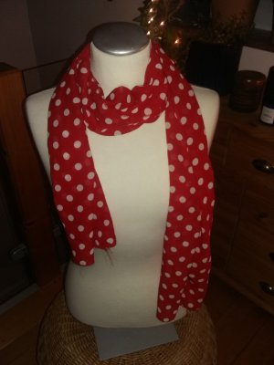Cravatta casual bianco-rosso