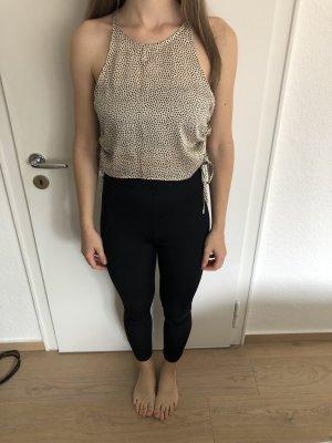 Zara Haut en soie crème-noir