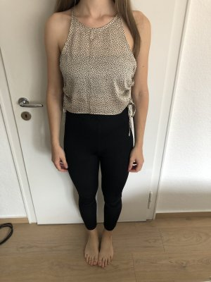 Zara Silk Top cream-black