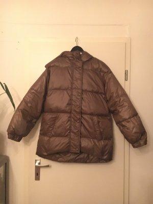 Mango Oversized Jacket bronze-colored