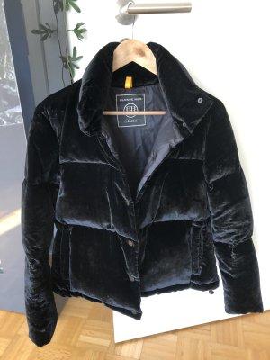 Pufferjacket blonde no.8 schwarz Samtoptik S