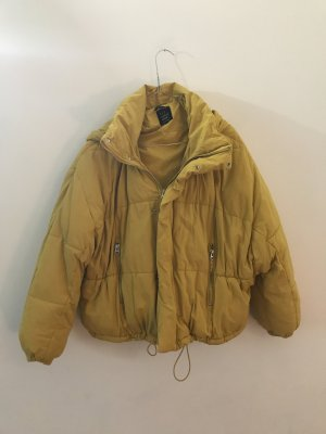Pufferjacket Winterjacke gelb XS Zara