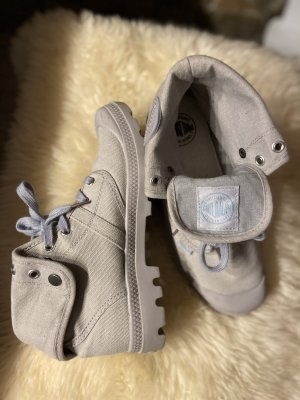 no name Lace-up Booties light grey