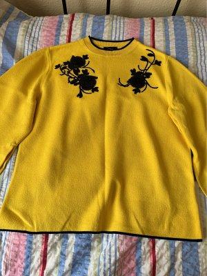 Alba Moda Crewneck Sweater yellow