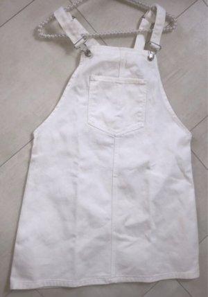 Pull & Bear Vestido vaquero blanco