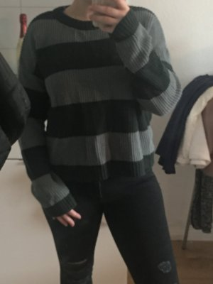 Pull and Bear Pullover grün Strick