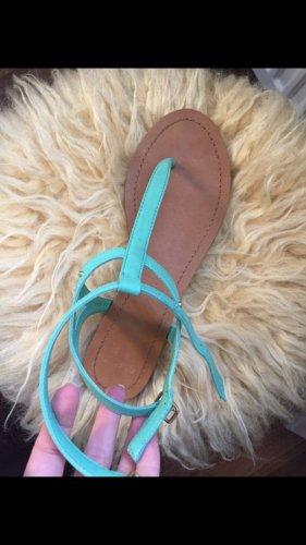 Pull and Bear Sandalen Mint grün Sommer NEU