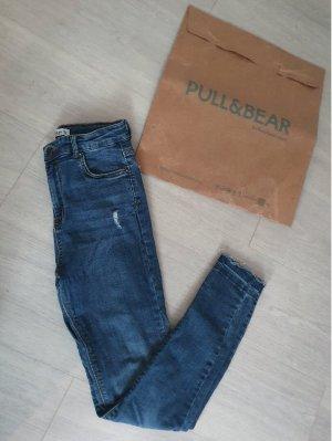 Pull & Bear Jeans skinny bleu-bleu foncé