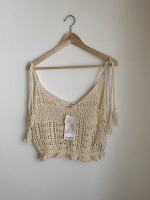 Pull & Bear Cropped Top cream-beige