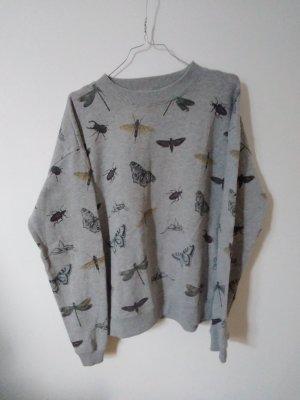 Pull & Bear Sweatshirt gris clair-gris