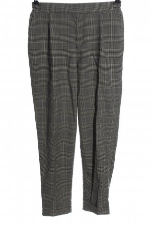 Pull & Bear 7/8 Length Trousers white-black check pattern casual look