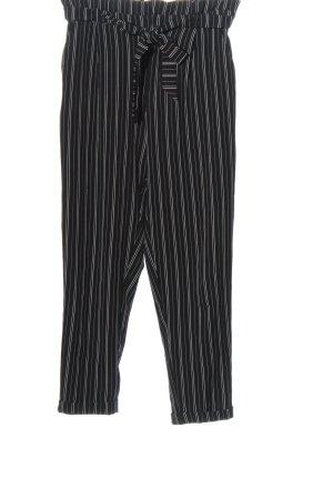 Pull & Bear 7/8-Hose schwarz-weiß Streifenmuster Casual-Look