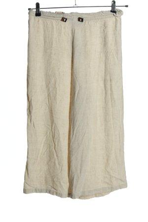 Pull & Bear Pantalone a 7/8 bianco sporco stile casual