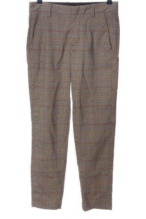 Pull & Bear Pantalon 7/8 gris clair-orange clair motif à carreaux