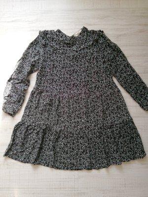 Pull & Bear A-Linien Blümchen Mini Kleid Gr. L 40