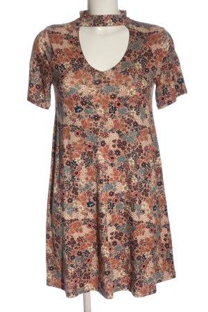 Pull & Bear A-Linien Kleid Allover-Druck Casual-Look