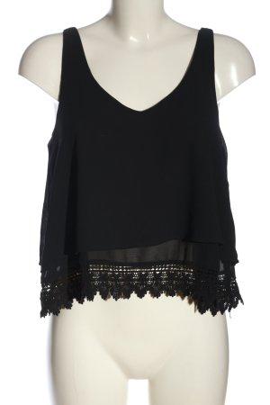 Pull & Bear A-Linien Top schwarz Elegant