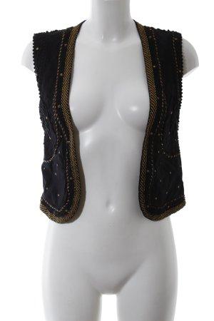 Pull & Bear Gilet de costume noir-bronze style décontracté