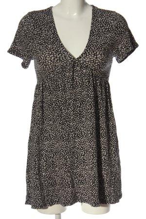 Pull & Bear Sukienka typu babydoll czarny-biały Na całej powierzchni