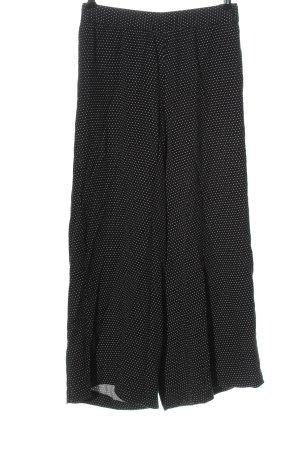 Pull & Bear Baggy Pants schwarz-weiß Punktemuster Casual-Look