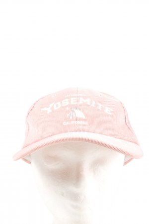 Pull & Bear Baseball Cap cream-white printed lettering casual look