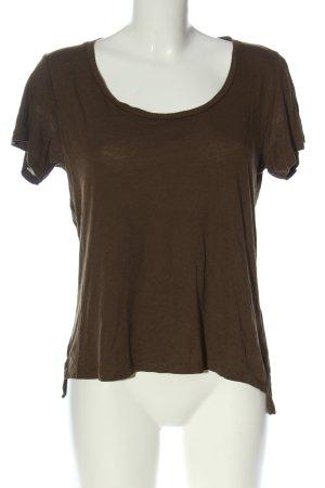 Pull & Bear Basic-Shirt braun Casual-Look