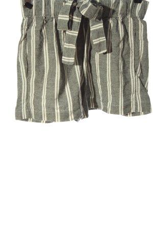 Pull & Bear Pantalón de Playa gris claro-blanco estampado a rayas look casual