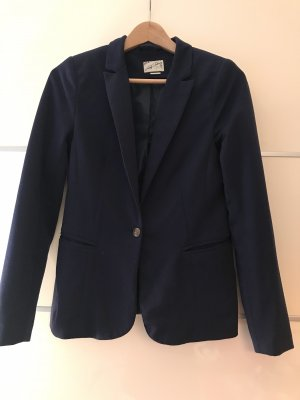 Pull & Bear Jersey Blazer dark blue
