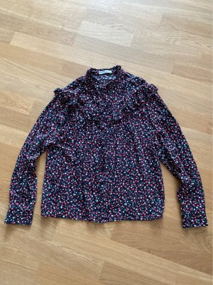 Pull & Bear Stand-Up Collar Blouse multicolored