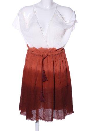 Pull & Bear Blusenkleid weiß-rot Casual-Look