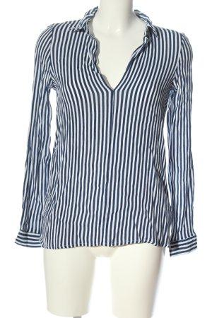 Pull & Bear Blusa Camisa azul-blanco estampado a rayas look casual
