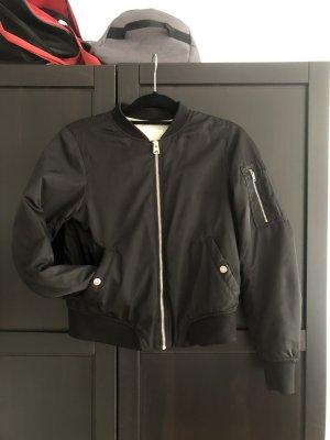 Pull & Bear Bomber Jacket black-light grey