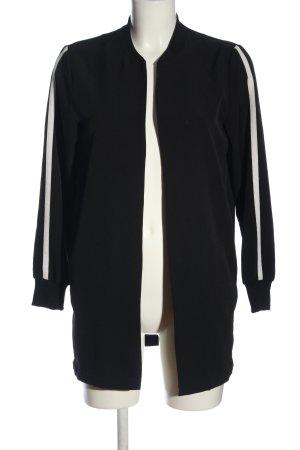 Pull & Bear Cardigan schwarz-weiß Streifenmuster Casual-Look