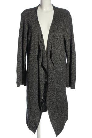 Pull & Bear Cardigan hellgrau-schwarz meliert Business-Look
