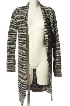 Pull & Bear Cardigan schwarz-wollweiß meliert Casual-Look