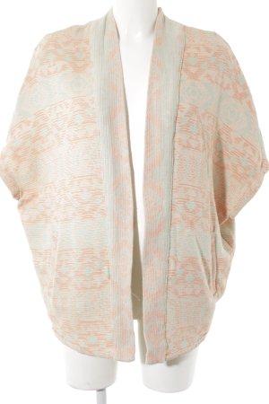 Pull & Bear Cardigan orange-graugrün grafisches Muster