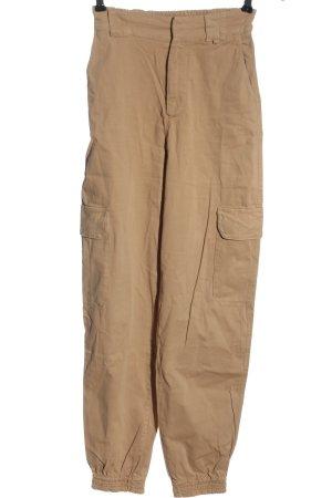 Pull & Bear Bojówki brązowy W stylu casual