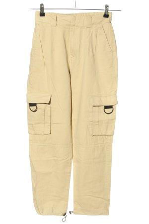Pull & Bear Pantalon cargo jaune primevère style décontracté