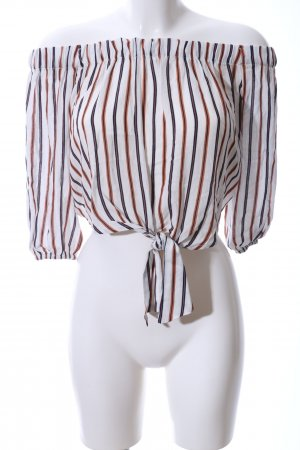 Pull & Bear Carmen blouse gestreept patroon elegant