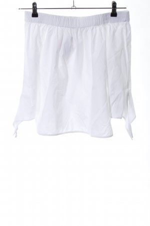 Pull & Bear Carmen blouse wit casual uitstraling