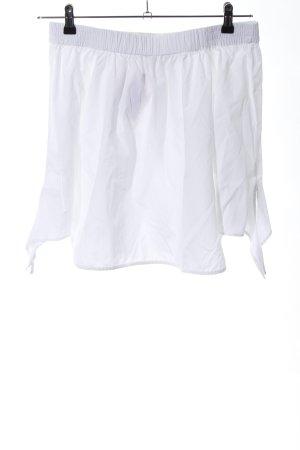 Pull & Bear Blouse Carmen blanc style décontracté