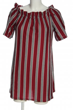 Pull & Bear Bluzka typu carmen Wzór w paski W stylu casual
