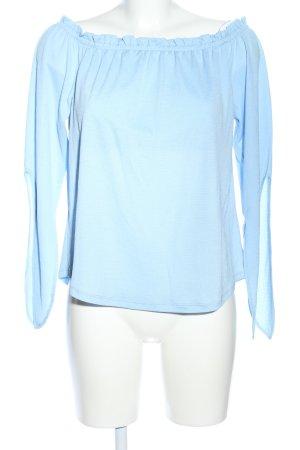 Pull & Bear Carmen-Bluse blau Casual-Look