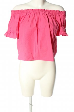 Pull & Bear Blusa alla Carmen rosa stile casual