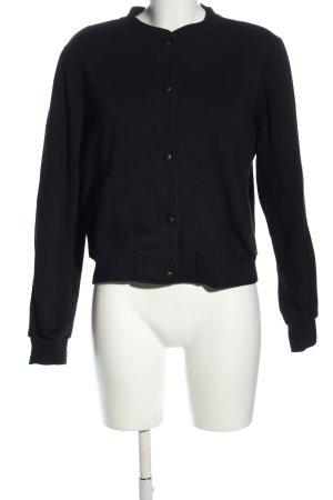 Pull & Bear Chaqueta estilo universitario negro-azul look casual