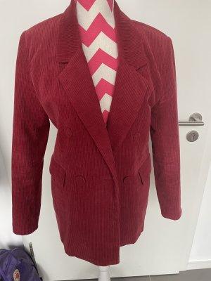 Pull & Bear Blazer stile Boyfriend rosso scuro